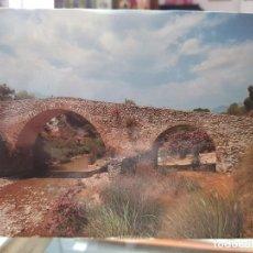 Postales: ANTIGUA POSTAL PUENTE ROMANO HELLIN MORATALLA FOTO CARLOS DIAZ 1990. Lote 278703283