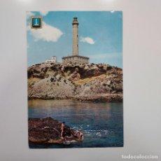Postales: POSTAL CABO DE PALOS. VISTA DEL FARO (MURCIA) CIRCULADA 1970. Nº 2 SUBIRATS. ANIMADA. Lote 278965563