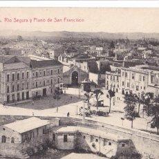 Cartoline: MURCIA, RIO SEGURA Y PLANO SAN FRANCISCO. ED. ROMERO, FOTOTIPIA THOMAS Nº 27. CIRCULADA. Lote 284757878