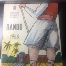 Postales: PROGRAMA DEL BANDO DE LA HUERTA MURCIA 1968. Lote 288574433