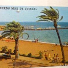 Postales: POSTAL LA MANGA .-PLAYA MAR DE CRISTAL-PARCIAL CIRCULADA. Lote 289647983