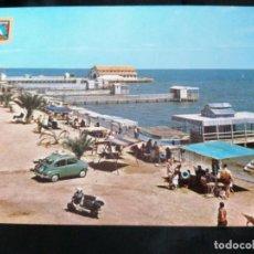 Postales: LOS ALCÁZARES, MAR MENOR, ANTIGUA POSTAL.SEAT 600 Y VESPA.ÑZ. Lote 289821913