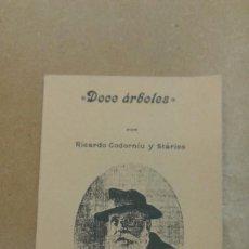 Postales: DOCE ARBOLES POR RICARDO CODORNIU Y STARICO MURCIA 1914 EDICION FACSIMIL 1995. Lote 295037008