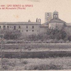 Postales: BARCELONA, SAN BENITO DE BAGES MONASTERIO ABSIDE. ED. A.T.V. ANGEL TOLDRA VIAZO Nº 889. SIN CIRCULAR. Lote 296660698