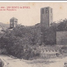 Postales: BARCELONA, SAN BENITO DE BAGES VISTA MONASTERIO. ED. A.T.V. ANGEL TOLDRA VIAZO Nº 888. SIN CIRCULAR. Lote 296682508