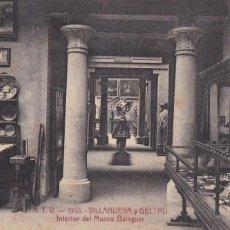Postales: BARCELONA, VILANOVA Y GELTRÚ MUSEO BALAGUER. ED. A.T.V. ANGEL TOLDRA VIAZO Nº 1935. SIN CIRCULAR. Lote 296683838