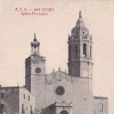 Postales: BARCELONA, SITGES IGLESIA PARROQUIAL. ED. A.T.V. ANGEL TOLDRA VIAZO Nº 366. SIN CIRCULAR. Lote 296685078