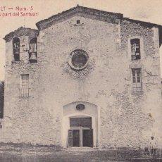 Postales: BARCELONA, BERGA QUERALT FRONTIS DE L'IGLESIA. ED. A.T.V. ANGEL TOLDRA VIAZO Nº 5. SIN CIRCULAR. Lote 296686488