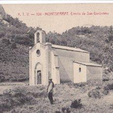 Postales: BARCELONA, MONTSERRAT ERMITA SAN GERÓNIMO. ED. A.T.V. ANGEL TOLDRA VIAZO Nº 326. CIRCULADA. Lote 296692683