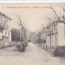 Postales: TARRAGONA, VALLFOGONA DE RIUCORP PASSEIG FONT PETITA. ED. FOTO SALA Nº 9. SIN CIRCULAR. Lote 296696993
