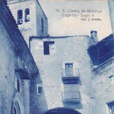 Postales: LLEIDA, S. LLORENÇ DE MORUNYS ESGLESIA. ED. FOTO J. ROVIRA Nº 16. SIN CIRCULAR. Lote 296698658