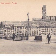 Postales: LLEIDA, VISTA PARCIAL Y PUENTE. ED. CASAS, FOTOTIPIA THOMAS FOTO GORDÓ. SIN CIRCULAR. Lote 296701613