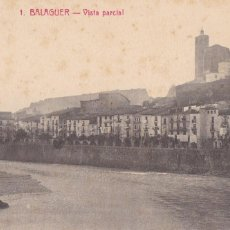 Postales: LLEIDA, BALAGUER VISTA PARCIAL. ED. FOTO ROISIN Nº 1. CIRCULADA EN 1915. Lote 296702613