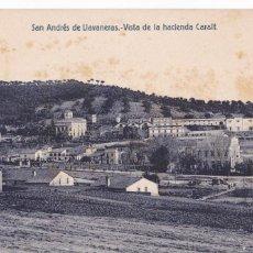 Postales: BARCELONA, SAN ANDRÉS DE LLAVANERAS VISTA HACIENDA CARALY. ED. FERGUI. CIRCULADA. Lote 296704058