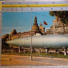 Postales: POSTAL DE MURCIA. AÑO 1966. CARTAGENA MONUMENTO AL SBMARINO PERAL. BANDERA FRANQUISTA. 2389. Lote 296907338