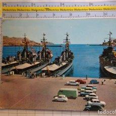 Postales: POSTAL DE MURCIA. AÑO 1965. CARTAGENA BARCOS DE GUERRA. MARINEROS. SEAT 600 BUQUES. 2391. Lote 296907553