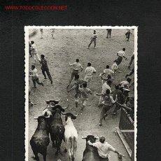 Postales: POSTAL DE PAMPLONA (NAVARRA): EL ENCIERRO (FOTO J.GALLE) (ANIMADA). Lote 7876826