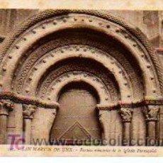 Postales: POSTAL DE SAN MARTIN DE UNX, PORTICO ROMANICO DE LA IGLESIA PARROQUIAL. Lote 3302387