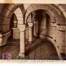Postales: POSTAL DE SAN MARTIN DE UNX, CRIPTA DE LA IGLESIA PARROQUIAL. Lote 3302392