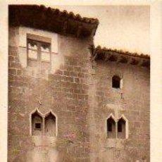 Postales: TARJETA POSTAL DE AIBAR, CASA GOTICA. Lote 3302436