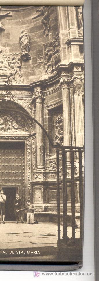 Postales: 15 POSTALES ANTIGUAS, DE VIANA (NAVARRA).EN UN BLOC. EN VARIAS DE ELLAS SE VEN PERSONAS. COLOR SEPIA - Foto 2 - 27575900