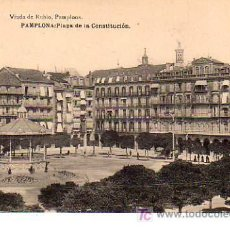 Postales: BUENA POSTAL DE PAMPLONA - PLAZA DE LA CONSTITUCION. Lote 13824123