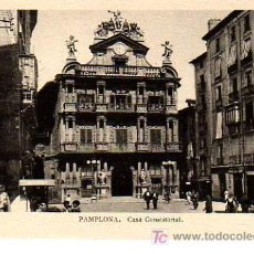 Postales: BUENA POSTAL DE PAMPLONA - CASA CONSISTORIAL. Lote 13824126