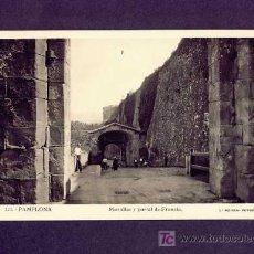 Postales: POSTAL DE PAMPLONA (NAVARRA): MURALLAS Y PORTAL DE FRANCIA (ROISIN NUM.174). Lote 6176231