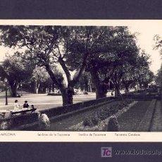 Postales: POSTAL DE PAMPLONA (NAVARRA): JARDINES DE LA TACONERA (MANIPEL). Lote 6176258