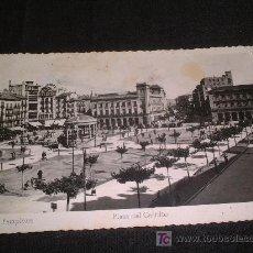 Postales: PAMPLONA 11 PLAZA DEL CASTILLO , ED.ARRIBAS. CANTOS TROQUELADOS+++ B/N.. Lote 9722610
