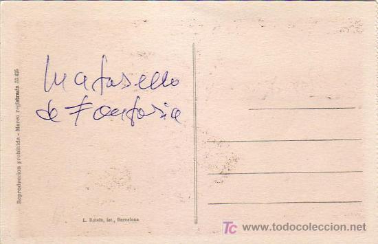 Postales: RONCESVALLES: SEPULCRO REY DON SANCHO. ROISIN. SIN CIRCULAR. FRANQUEO SIN DENTAR Y MATASELLOS FANTAS - Foto 2 - 24766224