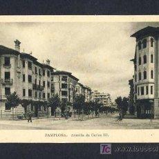 Postales: POSTAL DE PAMPLONA (NAVARRA): AVENIDA DE CARLOS III (ED.ARRIBAS). Lote 7887477
