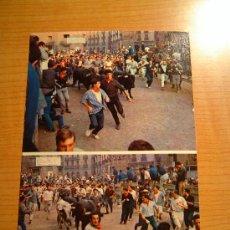 Postales: POSTAL PAMPLONA FIESTAS DE SAN FERMINEL ENCIERRO CIRCULADA. Lote 8067326