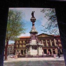 Postales: 9.-PAMPLONA-MONUMENTO A LOS FUEROS-EDC. VAQUERO-14X9 CM-. Lote 8891226