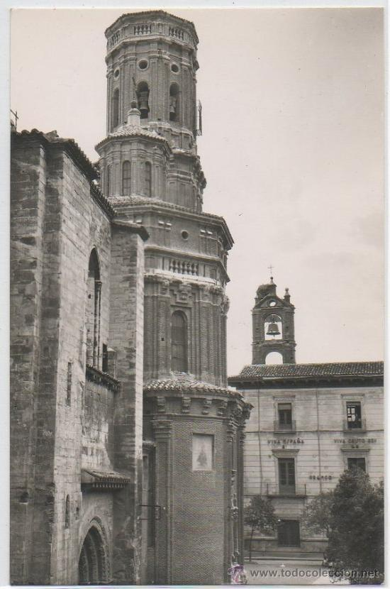 TARJETA POSTAL DE TUDELA CATEDRAL Y AYUNTAMIENTO NAVARRA (Postales - España - Navarra Moderna (desde 1.940))