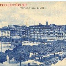 Postales: TARJETA POSTAL DE PAMPLONA. PLAZA DEL CASTILLO. Lote 3975814