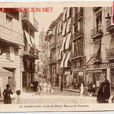 Postales: PAMPLONA. CALLE DE DOÑA BLANCA DE NAVARRA. Nº 13. L. ROISIN, FOT. CIRCULADA EN 1935. Lote 2744669