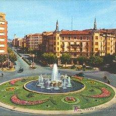 Postales: TARJETA POSTAL DE PAMPLONA. PLAZA DEL PRINCIPE DE VIANA Y AVD. DEL GENERALISIMO. Lote 9968081