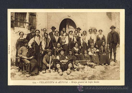 POSTAL DE VILLANUEVA DE AEZCOA (NAVARRA): GRUPO GENERAL DE TRAJES LOCALE (ROISIN NUM.174) (ANIMADA) (Postales - España - Navarra Antigua (hasta 1.939))
