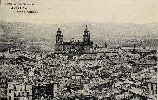 TARGETA POSTAL DE VISTA PARCIAL DE PAMPLONA (Postales - España - Navarra Antigua (hasta 1.939))