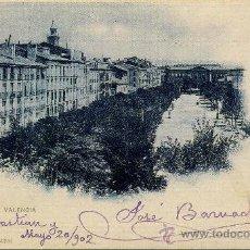 Postales: BONITA TARJETA POSTAL CON LA IMAGEN _____DEL PASEO VALENCIA EN PANPLONA. Lote 102116479