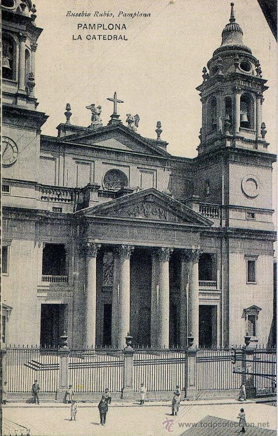 BONITA TARJETA POSTAL CON LA IMAGEN _____DE LA CATADRAL DE PAMPLONA (Postales - España - Navarra Antigua (hasta 1.939))