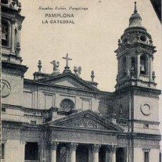 Postales: BONITA TARJETA POSTAL CON LA IMAGEN _____DE LA CATADRAL DE PAMPLONA. Lote 102116446