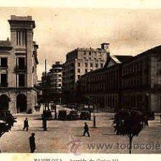 Postales: POSTAL DE PAMPLONA AVENIDA CARLOS III. Lote 11000162