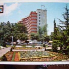 Postales: PAMPLONA, MONUMENTO A LA INMACULADA, Y HOTEL LOS TRES REYES. Lote 11109335