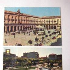 Postales: TAFALLA / 2 POSTALES AÑOS 60 / PLAZA DE NAVARRA Y PARQUE INFANTIL. Lote 26629708