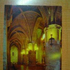 Cartes Postales: POSTAL SANGÜESA IGLESIA DE SANTIAGO PERSPECTIVA EN DIAGONAL CON LOS ABSIDES LATERALES SIN CIRCULAR . Lote 11648244