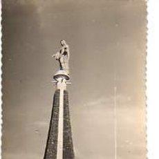 Postales: INTERESANTE POSTAL DE TUDELA - MONUMENTO AL SAGRADO CORAZON DE MARIA-CIRCULADA AÑOS 50. Lote 11704189