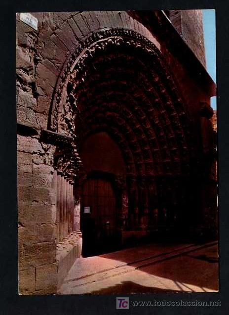 TUTERA - TUDELA. *CATEDRAL PUERTA DEL JUICIO* EDC. PARIS J.M.J. Nº 204. CIRCULADA TUDELA 1967 (Postales - España - Navarra Moderna (desde 1.940))
