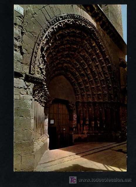 TUTERA - TUDELA. *CATEDRAL PUERTA DEL JUICIO* EDC. PARIS J.M. Nº 204. CIRCULADA TUDELA 1975 (Postales - España - Navarra Moderna (desde 1.940))